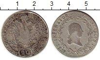 Изображение Монеты Европа Австрия 20 крейцеров 1824 Серебро XF-