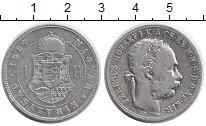 Изображение Монеты Венгрия 1 форинт 1887 Серебро VF Франц Иосиф I