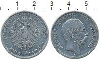 Изображение Монеты Германия Саксония 2 марки 1877 Серебро VF