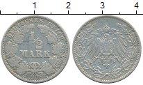 Изображение Монеты Германия 1/2 марки 1908 Серебро XF