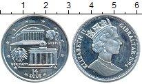 Изображение Монеты Гибралтар 14 экю 1994 Серебро Proof-