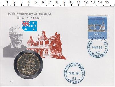 Изображение Подарочные монеты Австралия и Океания Новая Зеландия 50 центов 1986 Медно-никель XF