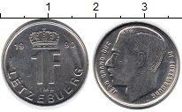 Изображение Дешевые монеты Люксембург 1 франков 1990 Медно-никель XF