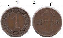 Изображение Дешевые монеты Германия 1 пфенниг 1925 Медь XF