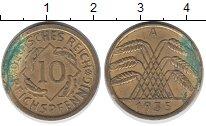 Изображение Дешевые монеты Германия 10 пфеннигов 1935 Латунь XF