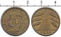 Изображение Дешевые монеты Европа Германия 10 пфеннигов 1935 Латунь XF
