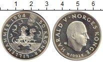 Изображение Монеты Европа Норвегия 50 крон 1992 Серебро Proof-