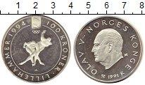 Изображение Монеты Норвегия 100 крон 1994 Серебро Proof-