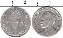 Изображение Монеты Куба 25 сентаво 1953 Серебро XF