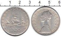 Изображение Монеты Италия 500 лир 1966 Серебро XF