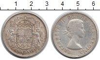 Изображение Монеты Северная Америка Канада 50 центов 1958 Серебро XF