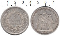 Изображение Монеты Франция 5 франков 1875 Серебро XF