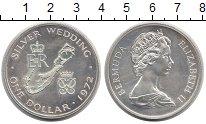 Изображение Монеты Великобритания Бермудские острова 1 доллар 1972 Серебро UNC-