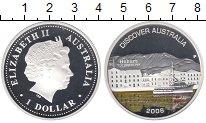 Изображение Монеты Австралия 1 доллар 2008 Серебро Proof Цветная  эмаль.  Ели