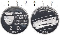 Изображение Монеты Европа Андорра 2 динерса 1997 Серебро Proof