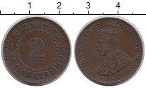 Изображение Монеты Маврикий 2 цента 1911 Бронза XF