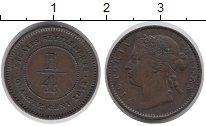 Изображение Монеты Стрейтс-Сеттльмент 1/4 цента 1872 Бронза XF Виктория