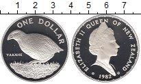 Изображение Монеты Новая Зеландия 1 доллар 1982 Серебро Proof