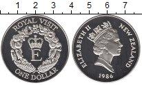 Изображение Монеты Австралия и Океания Новая Зеландия 1 доллар 1986 Серебро Proof