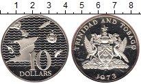 Изображение Монеты Южная Америка Тринидад и Тобаго 10 долларов 1973 Серебро Proof