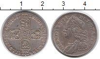 Изображение Монеты Европа Великобритания 6 пенсов 1758 Серебро XF