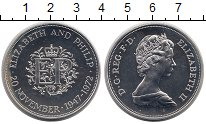 Изображение Монеты Великобритания 1 крона 1972 Серебро Proof-