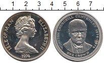 Изображение Монеты Великобритания Остров Мэн 1 крона 1974 Серебро Proof-