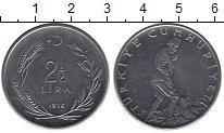 Изображение Монеты Азия Турция 2 1/2 лиры 1975 Сталь XF