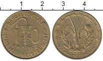 Изображение Монеты Западная Африка 10 франков 1979 Латунь XF Антилопа