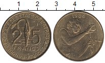 Изображение Монеты Западная Африка 25 франков 1984 Латунь UNC-
