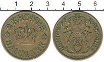 Изображение Монеты Дания 2 кроны 1925 Латунь VF