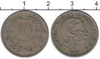 Изображение Монеты Люксембург 10 сантим 1901 Медно-никель XF Великий  Герцог  Адо