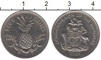 Изображение Монеты Северная Америка Багамские острова 5 центов 2000 Медно-никель XF