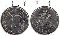 Изображение Монеты Северная Америка Барбадос 25 центов 2011 Медно-никель XF