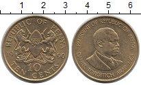 Изображение Монеты Кения 10 центов 1990 Латунь UNC-