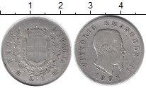 Изображение Монеты Италия 1 лира 1863 Серебро VF