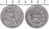 Изображение Монеты Южная Америка Перу 1 соль 1896 Серебро XF-
