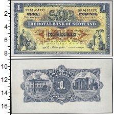 Изображение Банкноты Шотландия 1 фунт 1955  XF