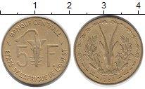 Изображение Монеты Западная Африка 5 франков 1984 Латунь XF