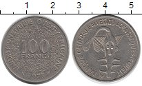 Изображение Монеты Западная Африка 100 франков 1978 Медно-никель XF Золотая гиря народа
