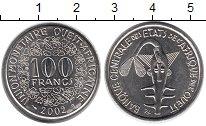Изображение Монеты Западная Африка 100 франков 2002 Медно-никель UNC- Золотая гиря народа