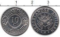 Изображение Монеты Антильские острова 10 центов 1993 Медно-никель UNC-