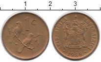 Изображение Монеты ЮАР 1 цент 1988 Бронза XF