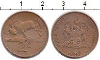 Изображение Мелочь Африка ЮАР 2 цента 0 Бронза XF