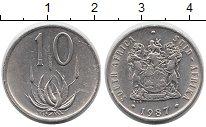 Изображение Монеты Африка ЮАР 10 центов 1987 Медно-никель XF