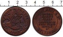 Изображение Монеты Австралия 1 пенни 1857 Медь XF Токен.Мельбурн