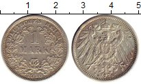 Изображение Монеты Германия 1 марка 1910 Серебро XF D