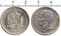 Изображение Монеты Южная Америка Венесуэла 1 боливар 1960 Серебро XF