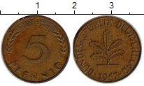 Изображение Монеты Германия ФРГ 5 пфеннигов 1969 Латунь XF