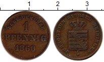 Изображение Монеты Саксен-Майнинген 1 пфенниг 1860 Медь XF Бернхард II